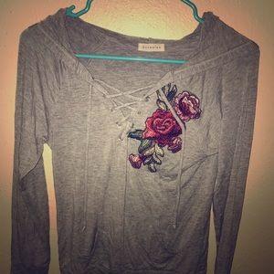 Jackets & Blazers - Gray hoodie